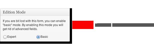 Edisi rIode Anda sedikit hilang dengan formulir ini, Anda dapat mengaktifkan mode dasar. mengaktifkan mode ini, Anda akan mendapatkan bidang canggih menyingkirkan. QExpert